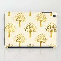 gold foil iPad Cases featuring Cream Gold Foil 02 by Aloke Design