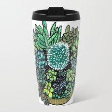 Golden Succulents and Sunshine Travel Mug