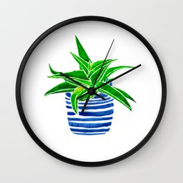 Succulent (green/blue) Wall Clock