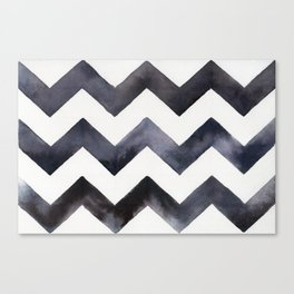 Chevrons - Black Canvas Print