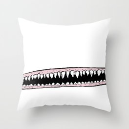 Teeth. Throw Pillow