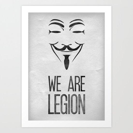 We Are Legion Art Print