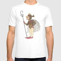 El pescado White Mens Fitted Tee MEDIUM