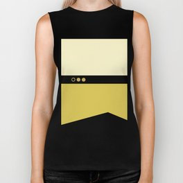 Data - Minimalist Star Trek TNG The Next Generation - Enterprise 1701 D - startrek - Trektangles Biker Tank