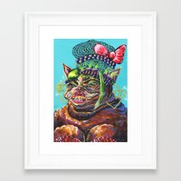 bitch Framed Art Prints featuring Bitch. by Eliza Brown Art
