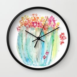 Cactus of Many Colors Wall Clock