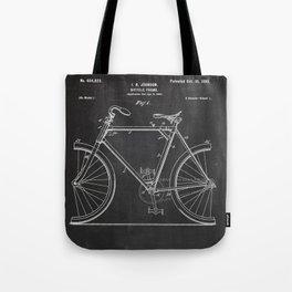 Bicycle Frame Patent Tote Bag