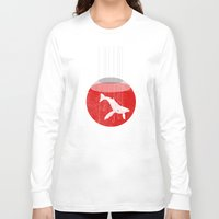 hunting Long Sleeve T-shirts featuring Japan's Hunting by ScottLaserowPosters