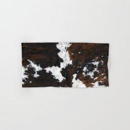 Brown Cowhide, Farmhouse decor Hand & Bath Towel