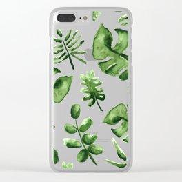 Falling Verde Clear iPhone Case