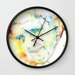 POPE FRANCIS - watercolor portrait.2 Wall Clock