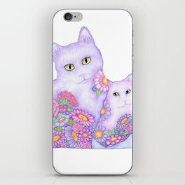 Bart and Clay - A Portrait of Two Cats  iPhone Skin