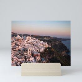 Magic Hour in Thira, Santorini Mini Art Print
