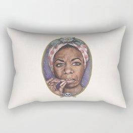 Watercolor Painting of Nina Simone Rectangular Pillow