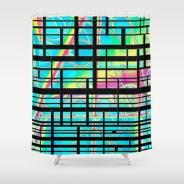 Rainbows and lines Shower Curtain