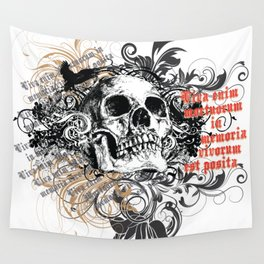 The life of the dead is retained in the memory of the living Wall Tapestry
