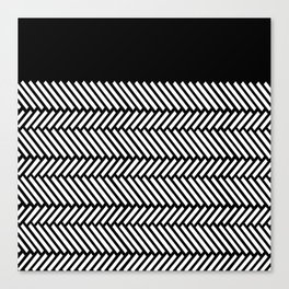 Herringbone Boarder Canvas Print