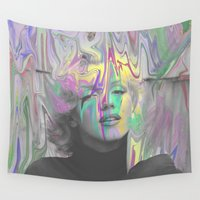 monroe Wall Tapestries featuring Monroe by Cale potts Art