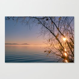 Beautiful Winter Along The Lake Canvas Print
