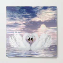 love swans Metal Print