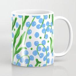 Water Droplets and Leaves Coffee Mug
