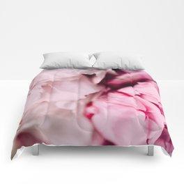 Pink Peonies Comforters