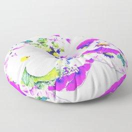 Paper Flowers Floor Pillow