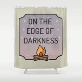 Greta Van Fleet On The Edge Of Darkness Fire Shower Curtain
