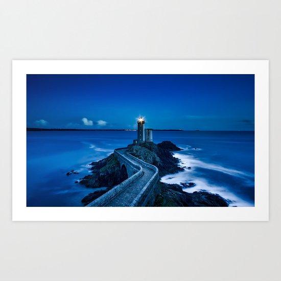 Plouzane Lighthouse, France Art Print