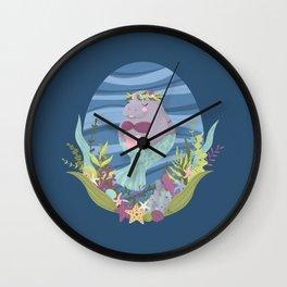 Sweet Manatee Mermaid Wall Clock