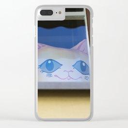 Cute Stalker Clear iPhone Case