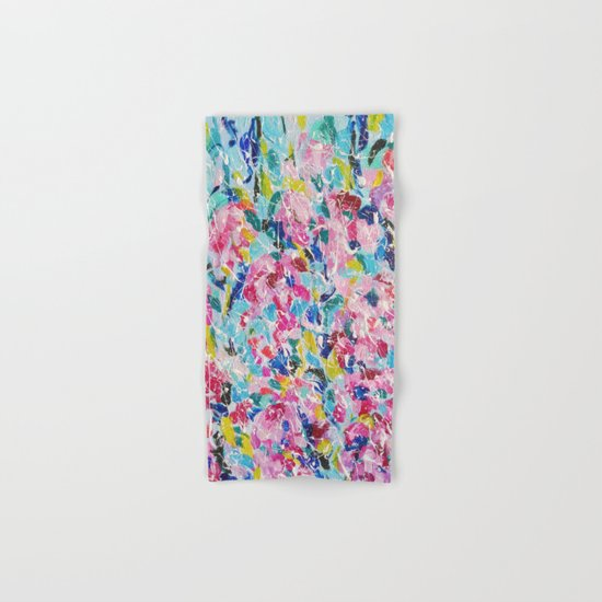 Abstract floral painting 2 Hand & Bath Towel