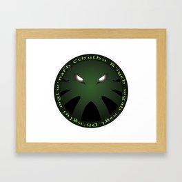 Cthulu Roundel Framed Art Print