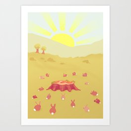 Three Carrots Art Print