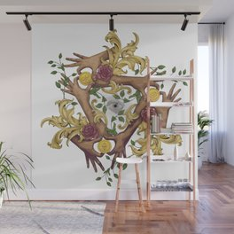 Hands and Coins Wall Mural