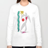 matisse Long Sleeve T-shirts featuring Inspired to Matisse (violet) by Chicca Besso