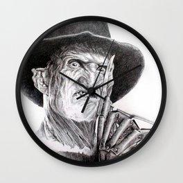 Freddy krueger nightmare on elm street Wall Clock