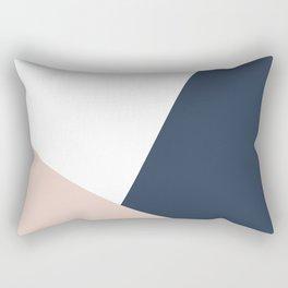 Navy and Cream Block Rectangular Pillow