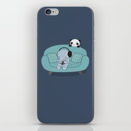 Kawaii Elephant And Panda iPhone Skin