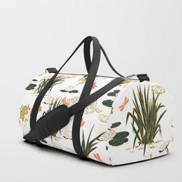 Asian floral illustration pattern I Duffle Bag