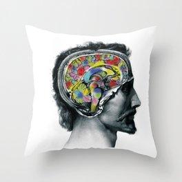 Brain colors fashion Jacob's Paris Throw Pillow