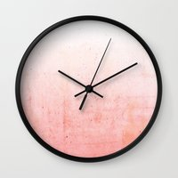 ombre Wall Clocks featuring Ombre  by cafelab