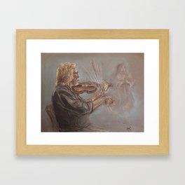 Musician in Motion Framed Art Print