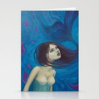 pisces Stationery Cards featuring Pisces by Artist Andrea