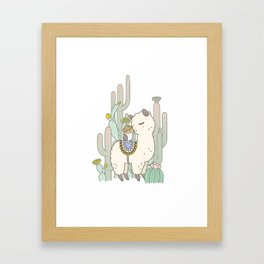 Alpaca Kiss Framed Art Print
