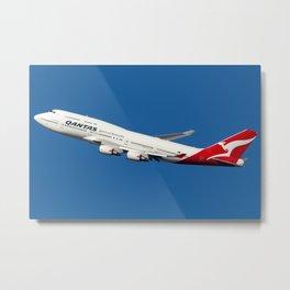 Qantas Boeing 747-400 departing Sydney Metal Print