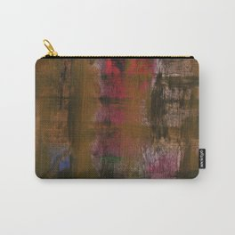 Olive Red Abstraction Carry-All Pouch