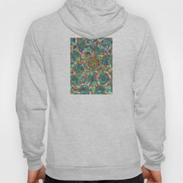 Circles And Squares under Clouds Hoody