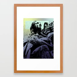 Statue in Vienna Framed Art Print