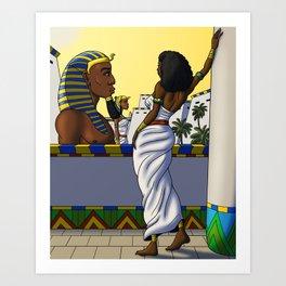 Nefertari Admires Her Capital Art Print